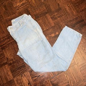 Cotton linen Zara jeans